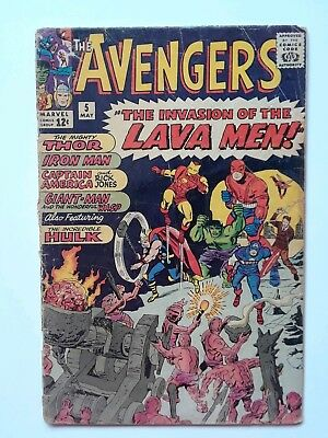 The Avengers #5, May 1964, low grade, approx. 1.0, Lee & Kirby