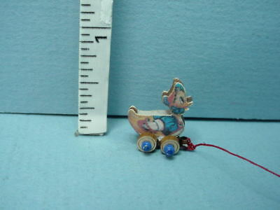 """Miniature Pull toy - """"Baby Duck"""" Child's Toy Handcrafted Laser Creations"""