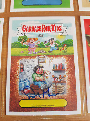 GARBAGE PAIL KIDS aaap Apple Pie autograph. David Gross. Bunker Bill / Sam 14/25
