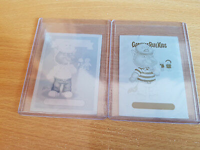 GARBAGE PAIL KIDS 85a Sheepish Seth - 2 mini printing plates (Yellow & Cyan)