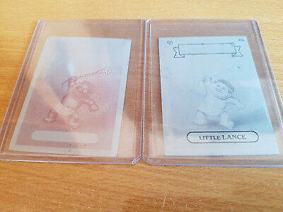 GARBAGE PAIL KIDS 83b Little Lance - 2 mini printing plates (Mag & Black)