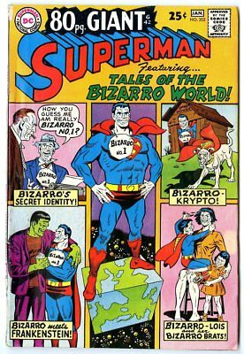 Superman #202 VG/FN 5.0 ow/white pages  80 Page Giant  DC  1967  No Reserve