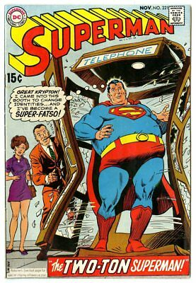 Superman #221 FN/VF 7.0 ow/white pages  DC  1969  No Reserve