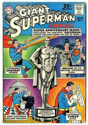Superman Annual #7 VG- 3.5 off-white pages  80 Page Giant  DC  1963  No Reserve