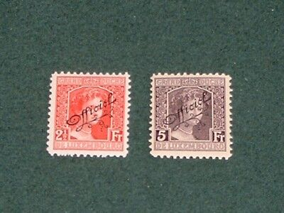 Luxembourg  1915  Official  Overprint  Mnh  #0112-0113