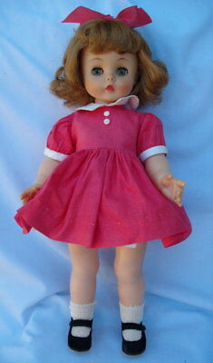 """Vintage Madame Alexander 15"""" Kelly Doll In Original Dress And Shoes"""
