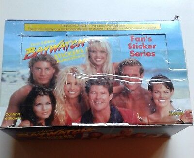 Baywatch 1St Edition 1996  Box Ioo Sealed Sticker Card Packs Non Sports