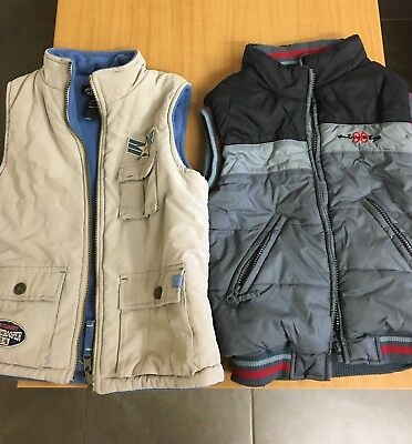 Pumpkin Patch, 2 x Size 7 Boys Puffer Vests, in pre-owned & excellent condition