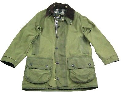 BARBOUR BEAUFORT Mens Classic Utility Jacket Military Green Size S M not Waxed