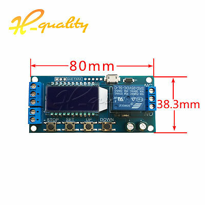 6-30V Micro USB LED Display Trigger Time Delay relay Module Cycle time switch