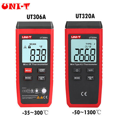 UNI-T Protabel Mini LCD Display Infrared Thermometer Red Laser Temperature Meter