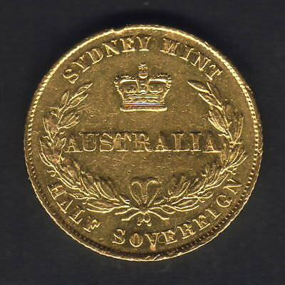 Australia. 1858 Sydney Mint - 1/2 Sovereign.. Part Lustre..  VF/gVF