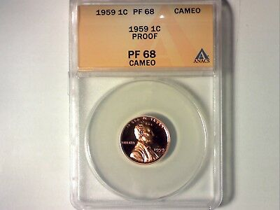 ANACS PR68 Cameo 1959 Proof Lincoln Memorial Cent (560)