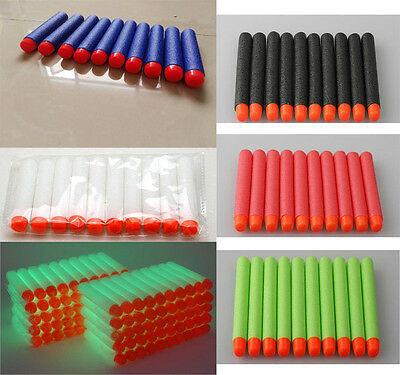 120pcs Nerf Gun Bullets Soft Refill Darts Round Head Blasters For N-Strike Toy