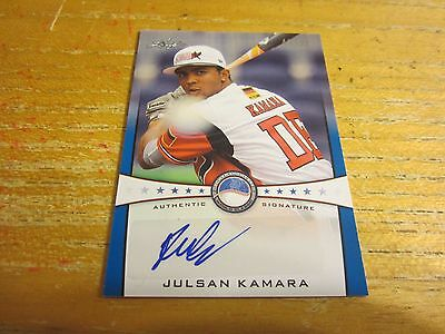 Julsan Kamara 2013 Leaf Power Showcase Autographs Blue #JK1 #'d 46/50 Card MLB