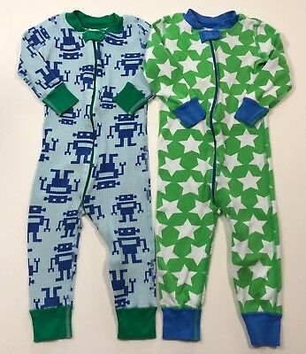 HANNA ANDERSSON 2 Sleeper Pajamas Play Condition Size 80 18-24 Months