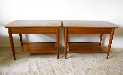 Mersman Mid Century Modern Walnut End Tables