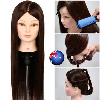 """50% 22"""" Real Human Hair Salon Hairdressing cutting Training Practice Head Clamp"""