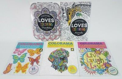 Adults Coloring Books for Stress Relief Lot of 5  Free Shipping
