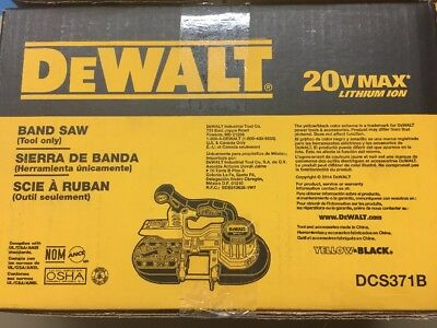 DEWALT DCS371B 20V MAX Li-Ion Band Saw (Bare Tool)