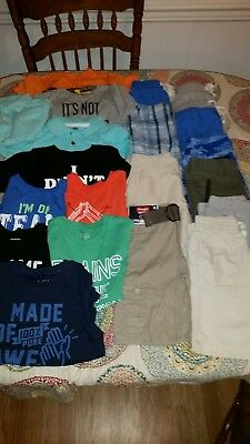 20 piece Boys lot of shorts and shirts size 4 & 5 5T many new with tags
