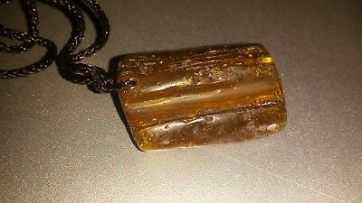 100% Natural Original Baltic Butterscotch Amber Genuine Pendant Necklace 4.9g
