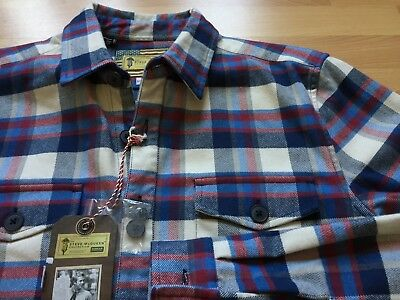 NEW NWT Barbour Steve McQueen Flannel Twill Multicolor Plaid Shirt Small $182