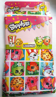 Nwt Intimo Shopkins Stampede Collage Leggins Stretch Pants Girls Colorful Size 8