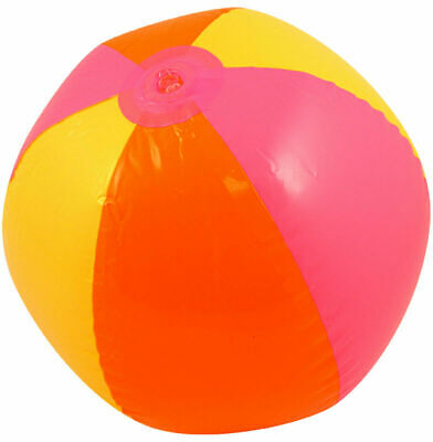 Kids Inflatable Multicoloured Beach Ball 50 cm Blow Up Toy Pool Party Accessory