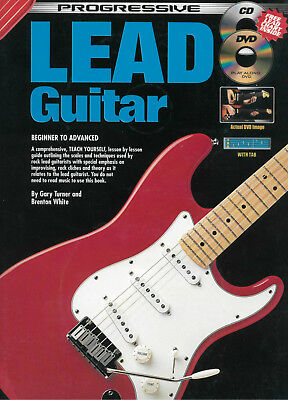 Progressive Lead Guitar Book *NEW* CD + DVD Turner & White Includes TAB