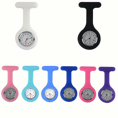 Portable Brooch Silicone Fob Quartz Watch wtih Battery Medical Nurse Doctor Used