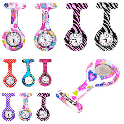 Brooch Fob Style DOCTOR NURSES WATCH Digital Silicone Patterned Pocket Watches