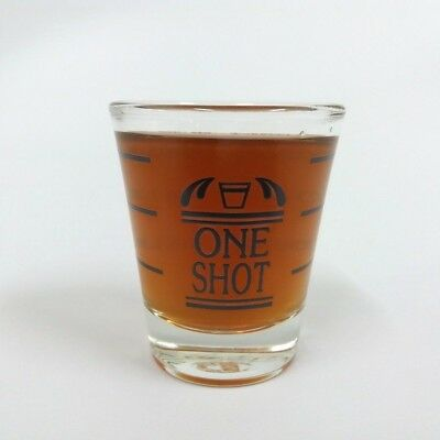 Shot Glass New Shotglass Whiskey Tequila Shooter Vintage Black mark Measuring