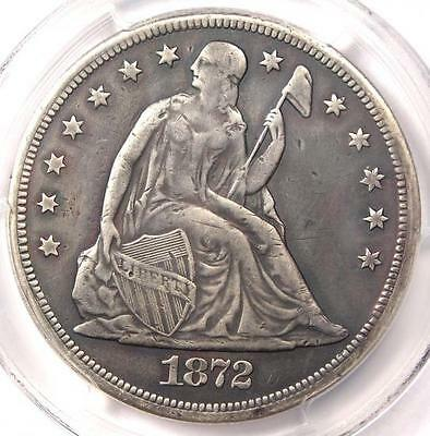 1872-CC Seated Liberty Dollar $1 - PCGS VF Details - Rare Carson City Coin