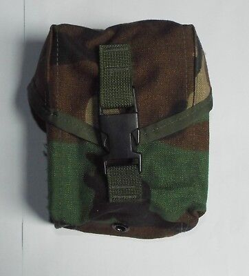 US ARMY MOLLE II 100 ROUND SAW GUNNER POUCH, Woodland Camo