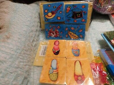 Mary Engelbreit Erasers Lot of 2 Packs of 4  VERY CUTE NEW IN PACKAGE