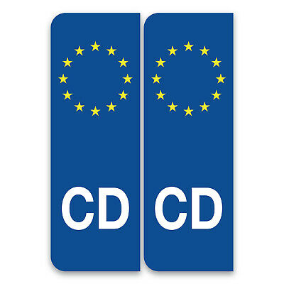 CD Corps diplomatique Euro Car, Van Embassy Staff Number Plate Vinyl Stickers