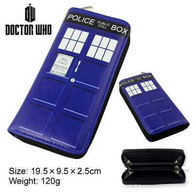 New 2 Types Doctor Who Tardis PU Wallet Telephone Booth Purse