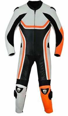 New Men Motorcycle Leather Racing Suit Ce Approved Protection All Sizes