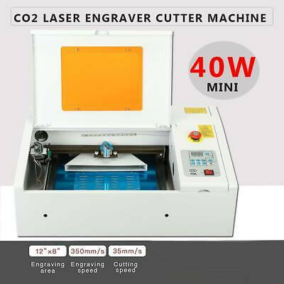 Upgraded 40W CO2 Laser Engraver Cutting Machine Crafts Cutter USB Interface..