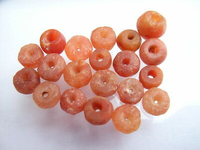 20 Ancient Neolithic Carnelian Beads, Stone Age, VERY RARE!