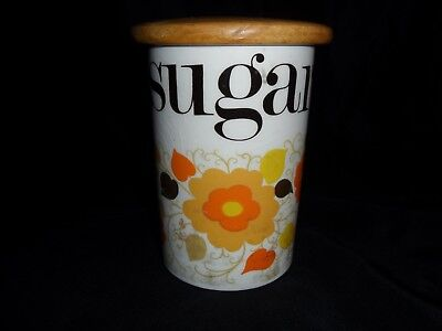 Retro Kitch Mary Quant Designed Flower Powesugar Storage Jar Crown Devon Pottery
