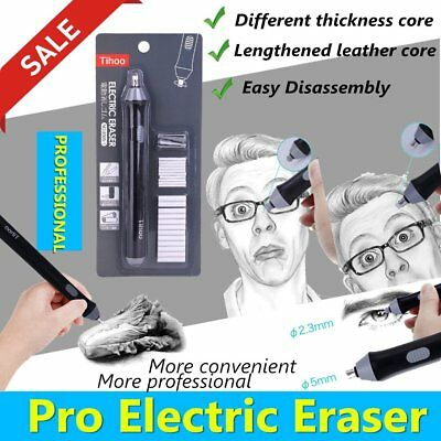 Easy Disassembly School Students Electric Eraser for Sketch Writing Drawing A4