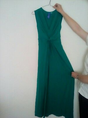 seraphine green knot front maternity dress size 8 maxi dress