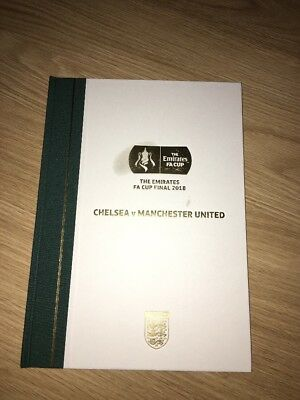 Man United Vs Chelsea - Fa Cup Final 2018 Limited Edition Programme - Damaged