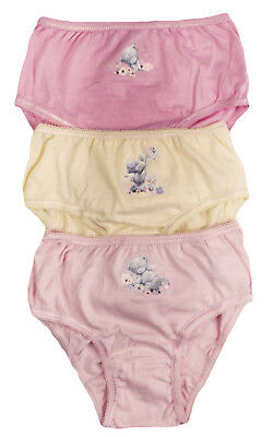 Girls Me To You 3 Pack Knickers Kids Multipack Underwear Character Briefs Size