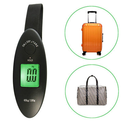 Portable 40kg LCD Digital Fish Hanging Luggage Electronic Hook Scale