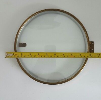 ANTIQUE WALL CLOCK BEZEL WITH GLASS  for spares repairs parts