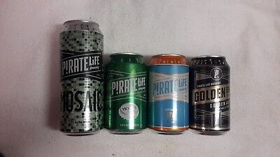 4 Pirate Life Craft Beer Cans