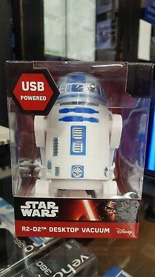 Disney Star Wars R2 D2 Desktop Droid Usb Desk Vacuum Cleaner Hoover